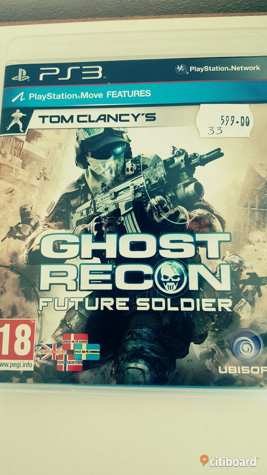 """Ghost recon future soldier"" ps3 Uppsala Uppsala Sälj"