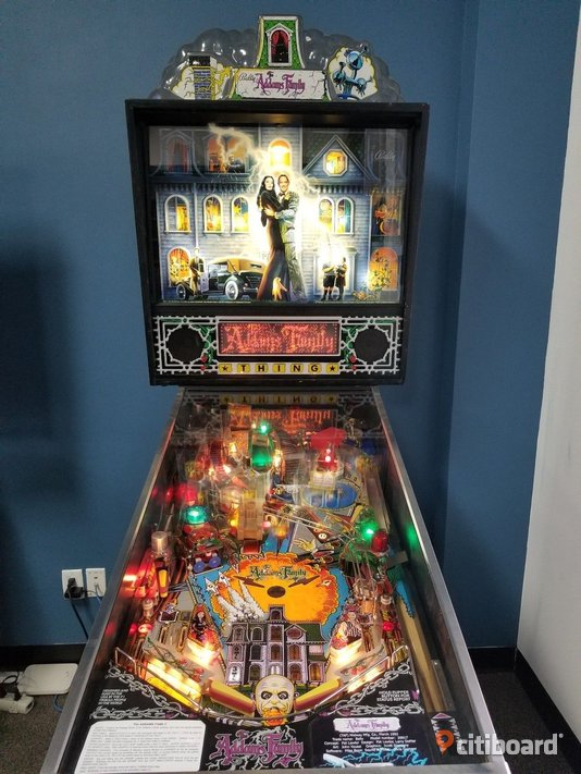 The Addams Family Flipper Pinball 1992 Stockholm Stockholm