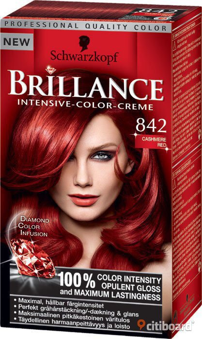 Hårfärg Schwarzkopf Brillance Intensive Color Creme 842