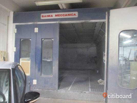 Used spray booth SAIMA MECCANICA size 7330 X 4050 H 3450 (n.9) Stockholm