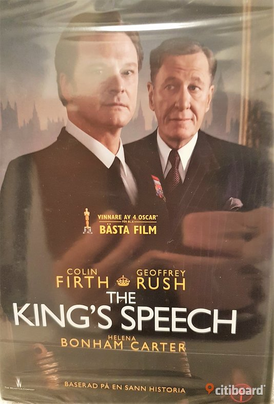 NY DVD film THE KINGS´S SPEECH  Lessebo