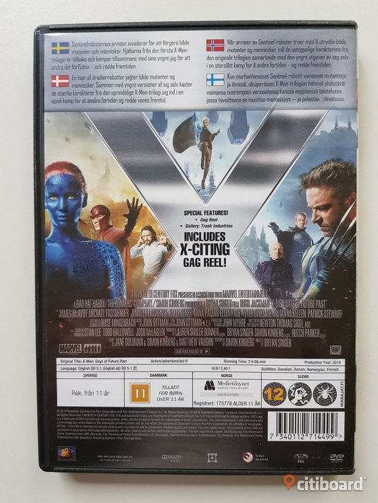 DVD-film: X-men: Days of Future Past - Hugh Jackman Mjölby