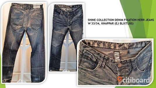 JEANS BYXOR Shine collection denim fixation W 33 L 34 Midja 32-33 tum Lessebo