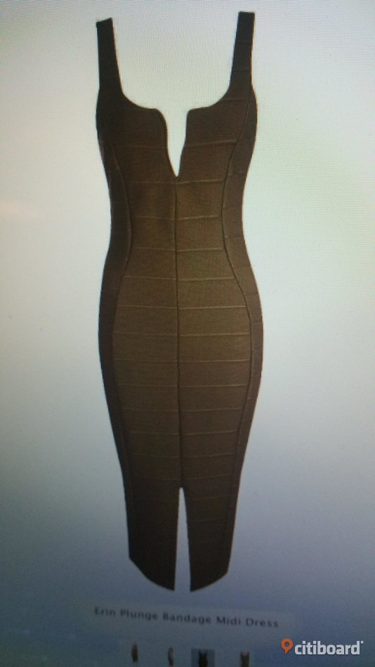 Plunge Bandage Midi Dress 32-34 (XS) Umeå