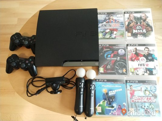 Sony Playstation 3 slim 120gb+Playstation move+spel Jönköping