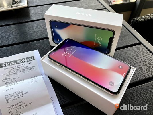 Apple iPhone X 256GB -Silver- Sölvesborg