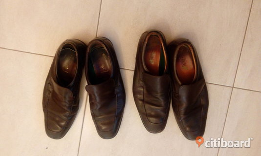 Brown Leather Shoes for Men size 11.5US 11.25inch 45Eur 284mm 29.5Asia 43-44 Sundbyberg