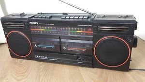 PHILIPS D8334 Dual Deck Radio Cassette Recorder Stereo & Surround Solna