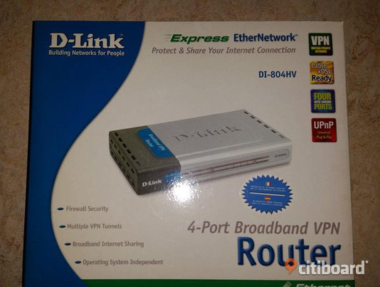 D-Link 4-port router - DI-804HV Broadband VPN Router