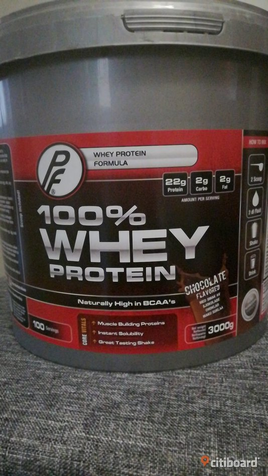 Proteinpulver 100% Whey 3kg / 100 portioner Fritid & Hobby Stockholm