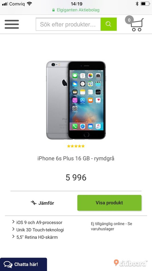 Billig iphone 6s plus 16gb Södermanland Nyköping / Oxelösund