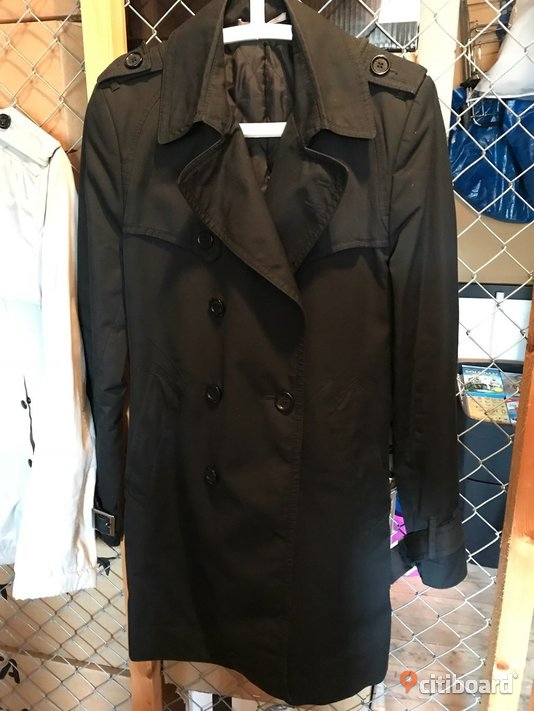 Svart Tiger trenchcoat