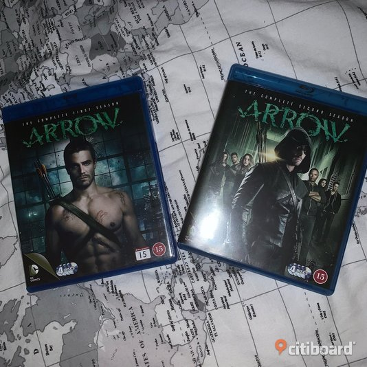 Arrow säsong 1 + 2 Blu-ray