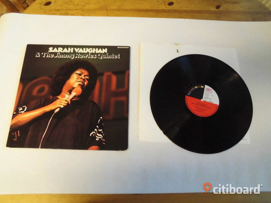 Sarah Vaughan & The Jimmy Rowles Quintet. Lp. Mainstream  Skåne Eslöv