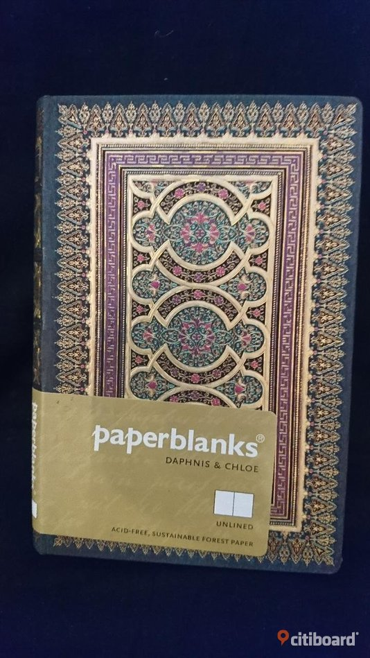 "NY! Paperblanks/notebook "" DAPHNIS & CHLOE "". UNLINED."