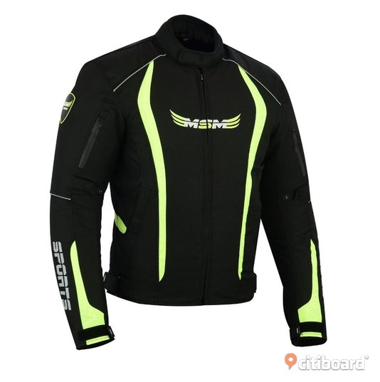 MC SPORTS MEN JACKET BLACK & FLUORESCENT 44-46 (S) Växjö
