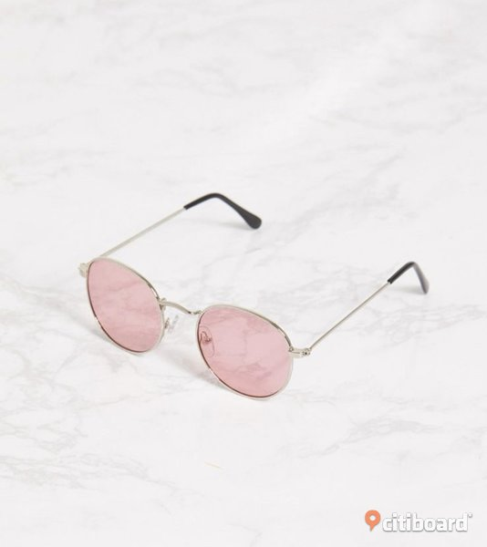 Pink Rounded Lens Retro Sunglasses Solna