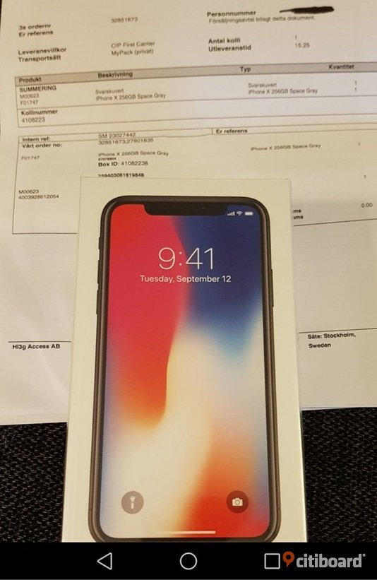 Iphone x 256GB Jokkmokk