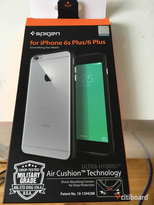 Iphone 6S/6 Plus Spigen skal, cover case, oanvänt  Sigtuna