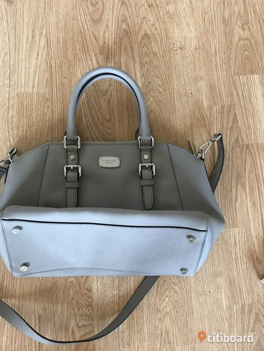 Michael Kors Ciara Väska Leather Pearl Grey  Kävlinge