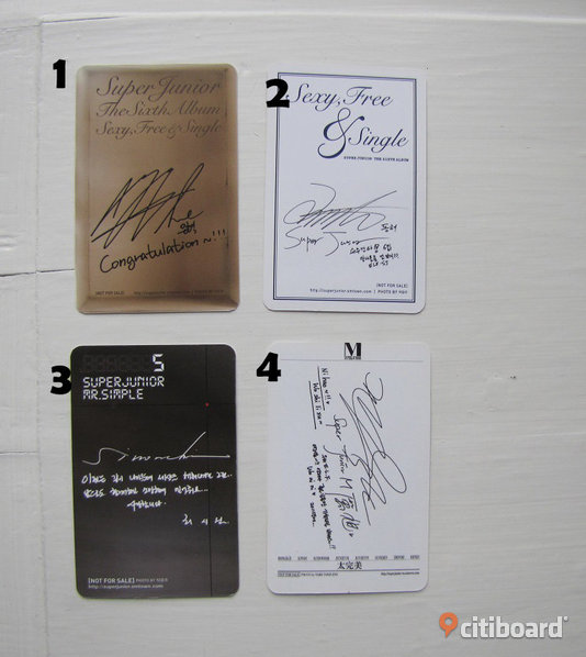 Kpop; SUPER JUNIOR merch ~ Collection cards Musik, Film & Spel Nyköping / Oxelösund