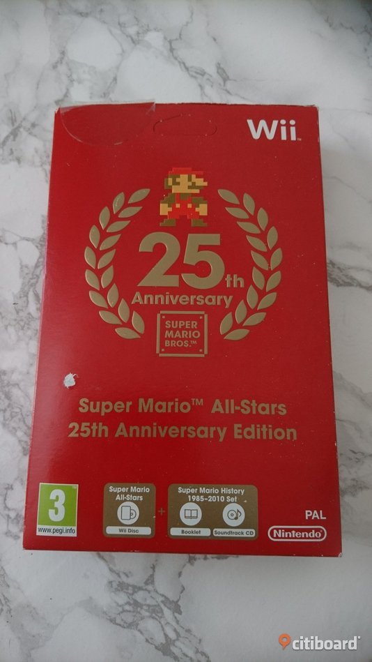 Wii Super Mario All-Stars 25th Anniversary Edition  Fritid & Hobby Uppsala