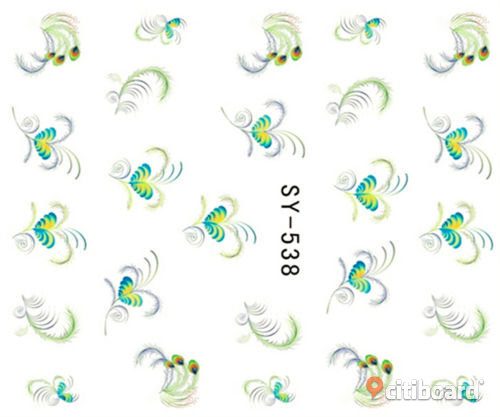 NYTT! 4 ARK Nageldekorationer / 3D Water Transfer Nail Art Stickers 535-538 Strömsund