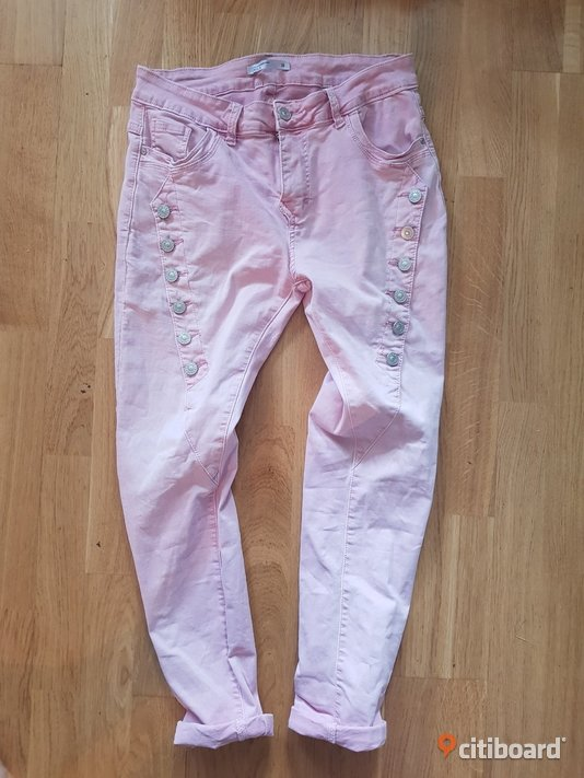 Snygga rosa baggy jeans stl.38 Midja 27-28 tum Halland Halmstad