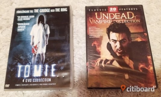 DVD-boxar: Tomie (4 DVD Collection) - 30 kr och Undead: The Vampire Collection 20 movies - 50 kr Fritid & Hobby Örebro