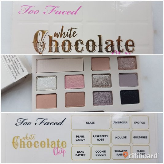 TOO FACED WHITE CHOCOLATE CHIP smink Linköping
