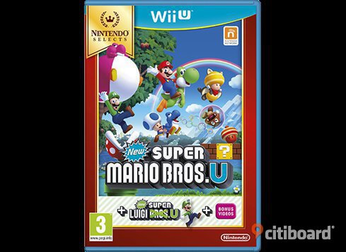 2 SPEL Nintendo Wii U - New Super Mario Bros. U & New Super Luigi U