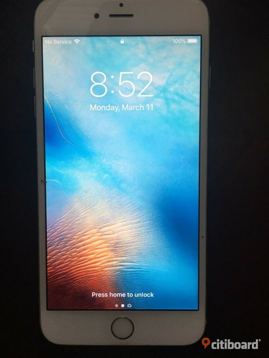 Apple iPhone 6s Plus - 64GB - Silver Olåst Solna