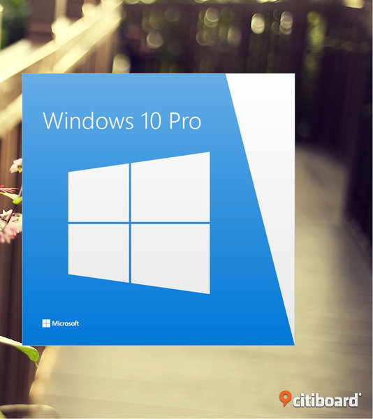 Ny Windows 10 professional 64 bit retail version original ,DVD + Aktiverings nyckeln Göteborg
