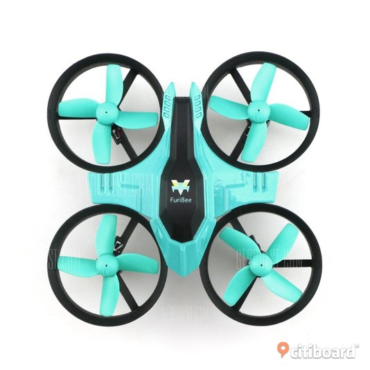 FuriBee F36 2.4GHz 4CH 6 Axis Gyro RC Quadcopter  -  CYAN ____ (ny) Borgholm
