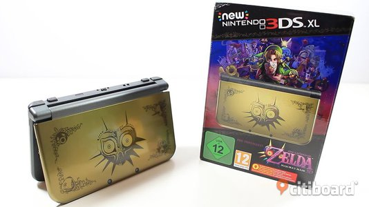 New Nintendo 3DS XL Majoras Mask Edition + Monster Hunter 4 Ultimate + Laddare