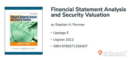 Financial Statement Analysis and Security Valuation Västerbotten Umeå Sälj