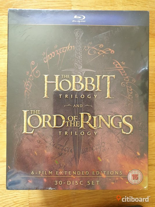 MIDDLE EARTH COLLECTION   Sagan om ringen & THE Hobbit Stockholm