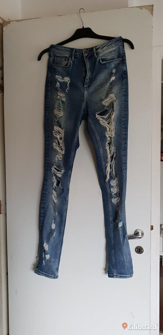 Jeans från hm stl 29 (små i stl) Midja 27-28 tum Damkläder  & Damskor Halmstad