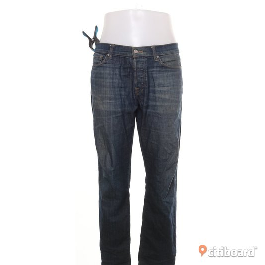 7 For All Mankind Jeans Slim Fit Storlek 36 Midja 34-36 tum Mjölby