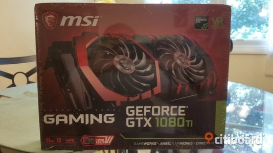 MSI GeForce GTX 1080 Ti DirectX 12 GeForce GTX 1080 Ti GAMING X 11G 11GB 352-Bit Botkyrka