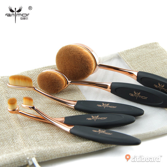 5 pack oval brush , sminkborstar , makeup brushes Partille
