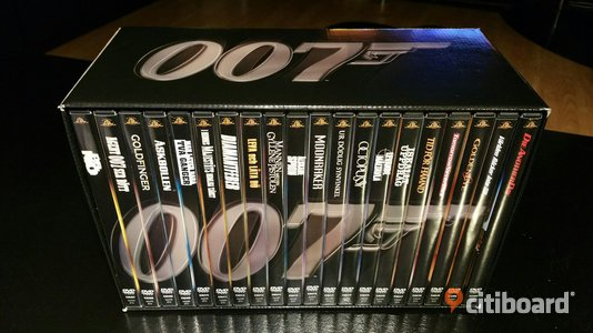 James Bond dvd collection  Fritid & Hobby Örebro Örebro