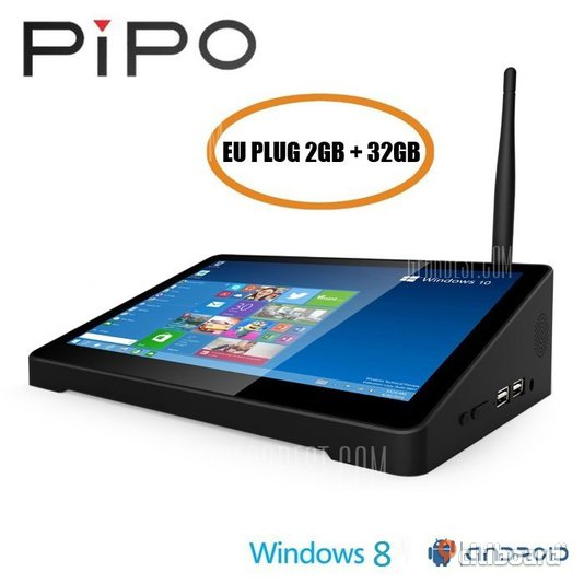 PIPO X8 TV Box Dual Boot (2GB + 32GB)  WINDOWS 8.1 + Android 4.4 Täby