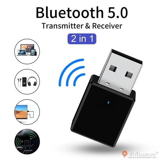Bluetooth 5.0 Receiver Transmitter 2 In 1 RX TX USB Car Kit Stereo Music 3.5mm AUX Audio Wireless Handsfree Adapter Headphone Stockholm Stockholm