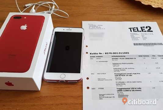 Apple iPhone 7 Plus 128GB Red Special Edition Sölvesborg