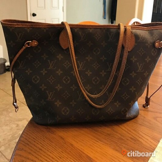 Louis Vuitton Neverfull MM Monogram Canvas Orginal Trelleborg