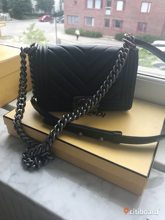 Chanel boybag chevron