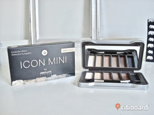 "Absolute New York - Icon Mini Eyeshadow Palette! ""Golden Glitz""! Ny! Malmö"