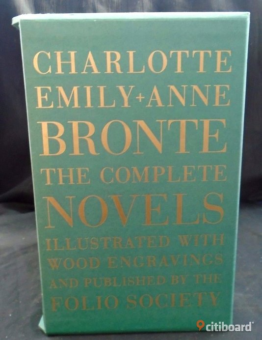 The complete 7 volumes of the Brontë sisters (Charlotte, Emily & Anne) literary works in The Folio Society edition  Stockholm