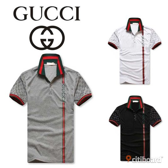 Gucci Polo Shirt Gray/Black Uppsala Sälj